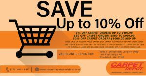 Carpet Coupon October Woodstock
